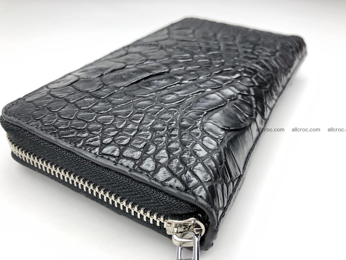 Crocodile leather wallet 1 zip 532 Foto 4