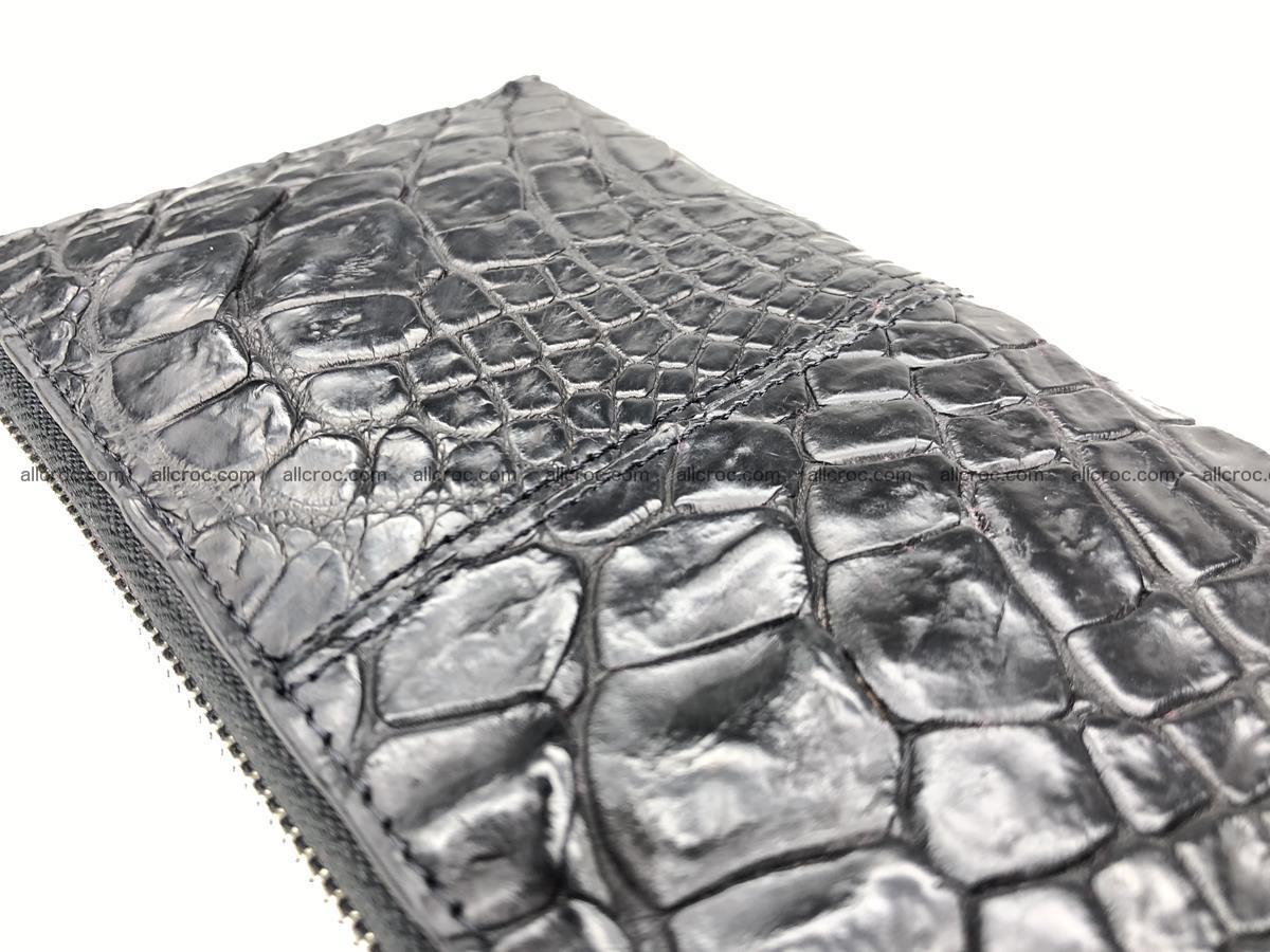 Crocodile leather wallet 1 zip 532 Foto 9