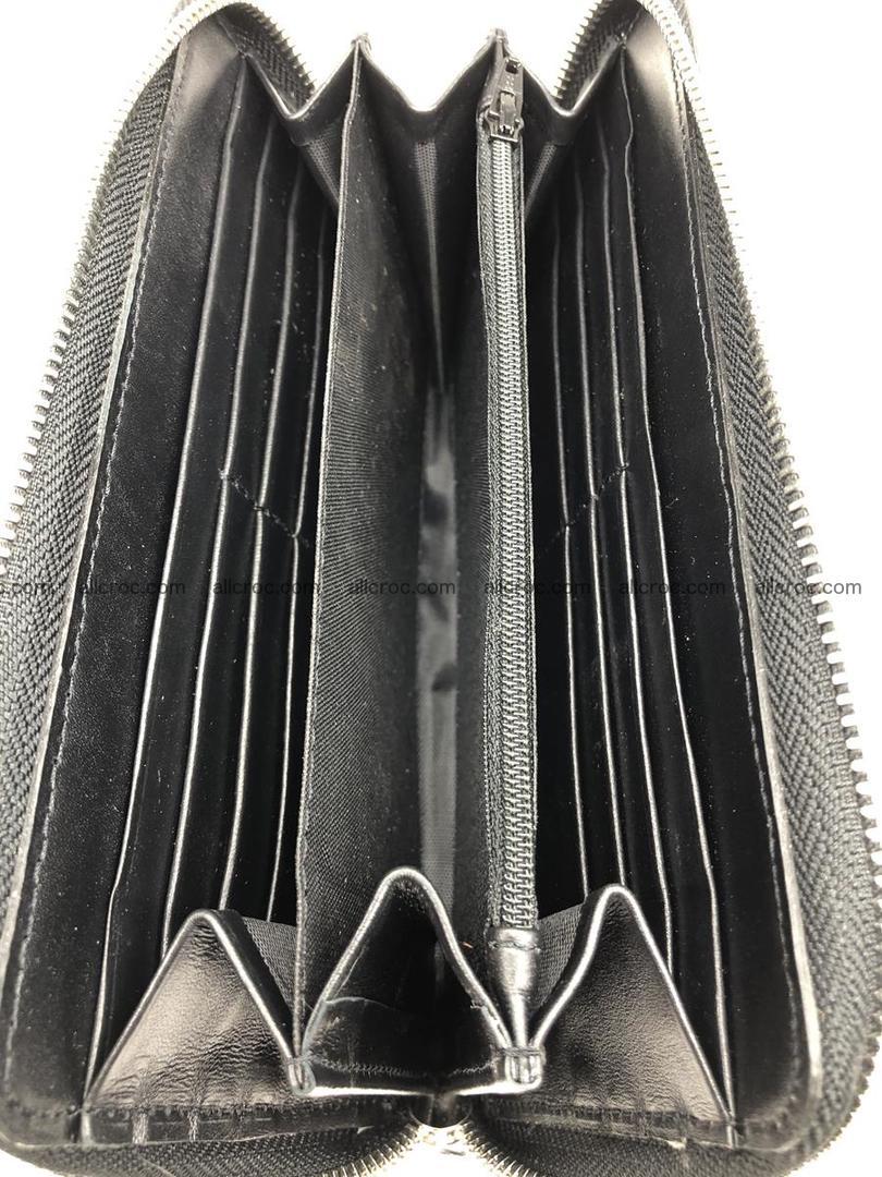 Crocodile leather wallet 1 zip 532 Foto 12