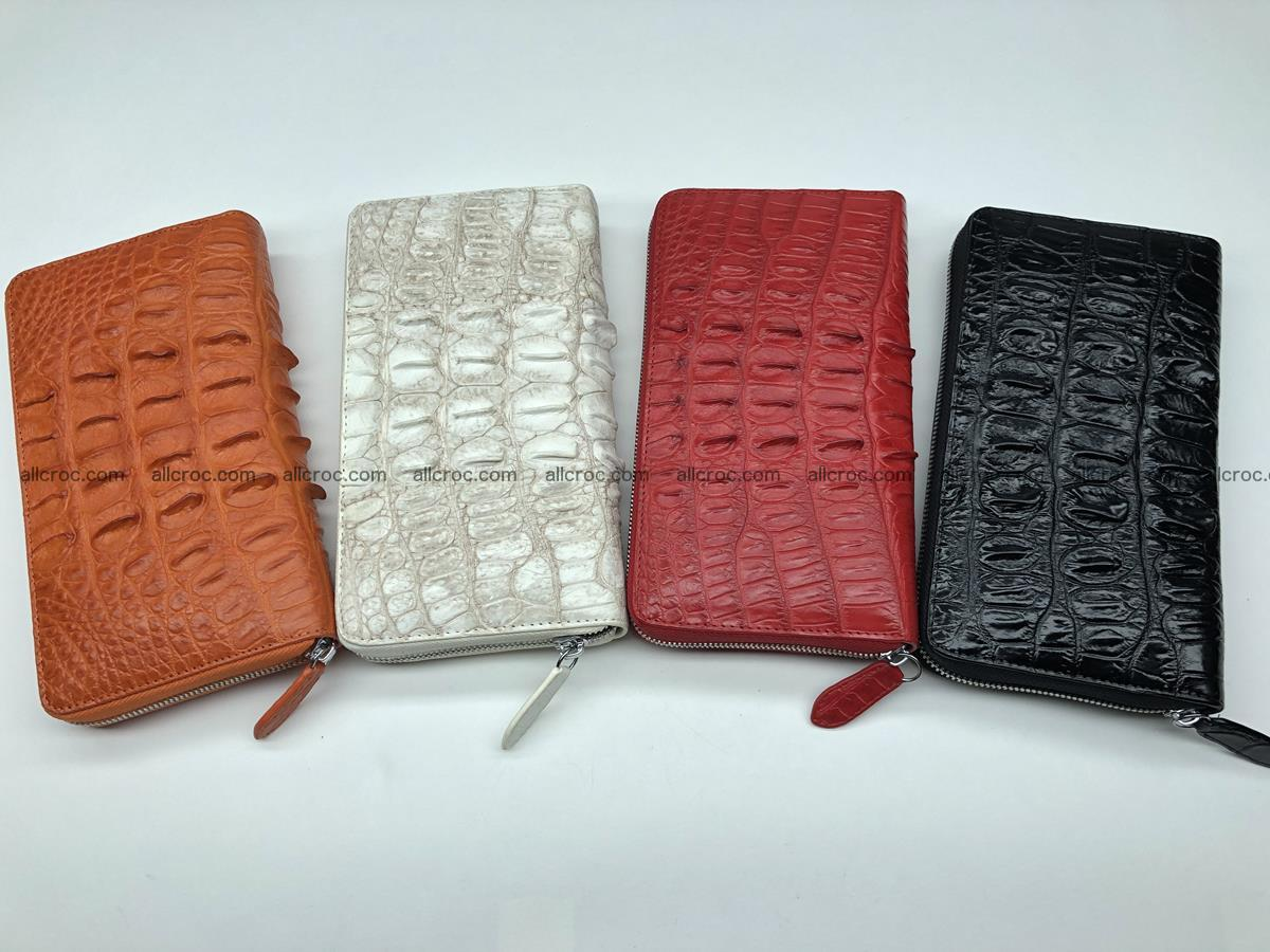 Crocodile leather wallet 1 zip 536 Foto 17