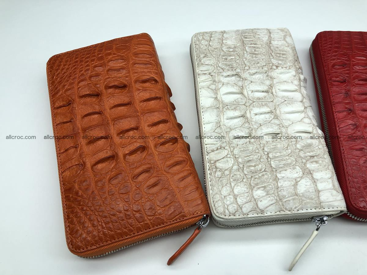 Crocodile leather wallet 1 zip 536 Foto 18