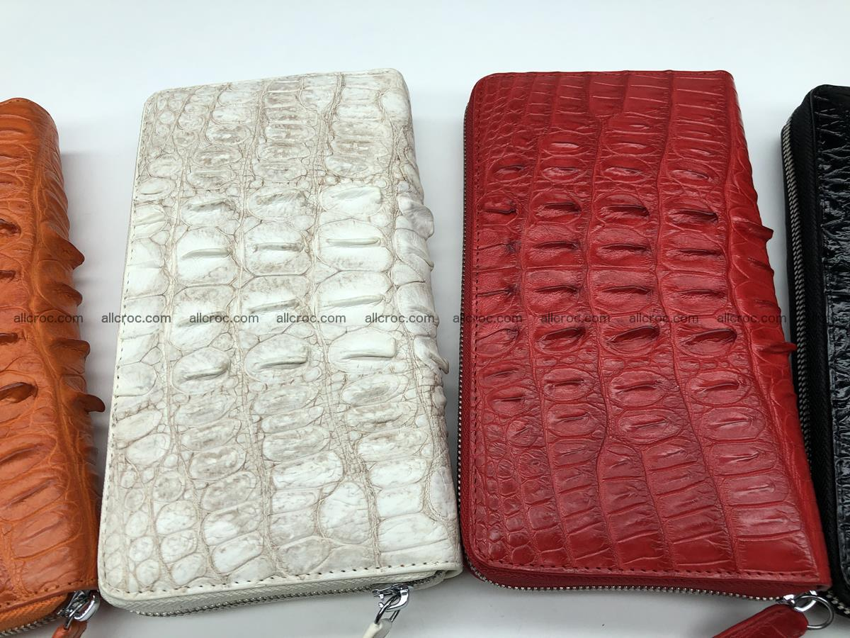 Crocodile leather wallet 1 zip 536 Foto 19