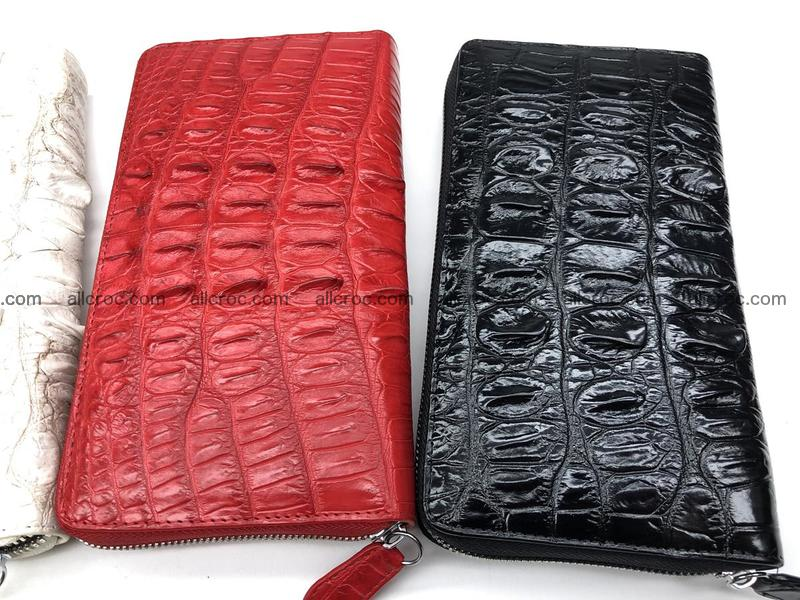 Crocodile leather wallet 1 zip 536