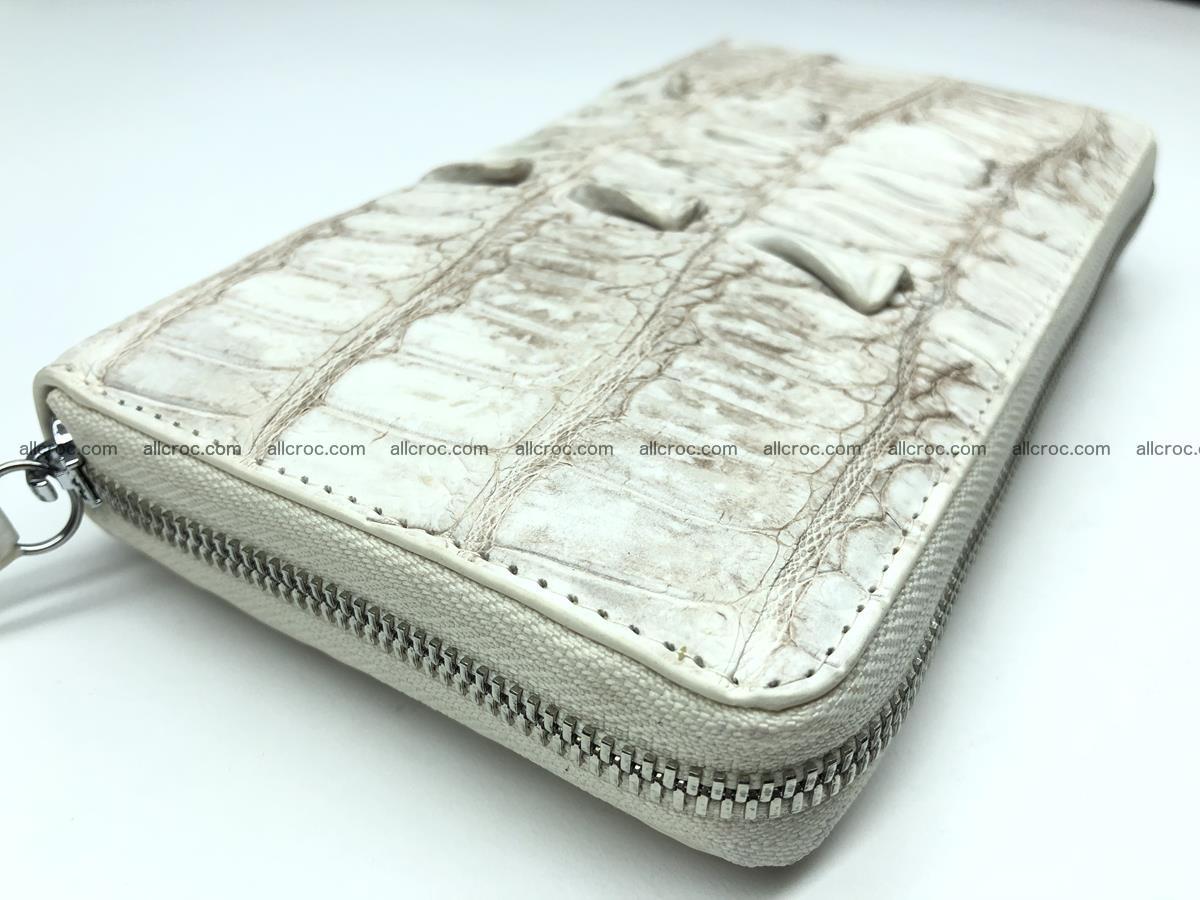 Crocodile leather wallet 1 zip 536 Foto 5