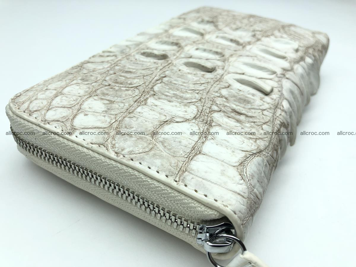 Crocodile leather wallet 1 zip 536 Foto 4