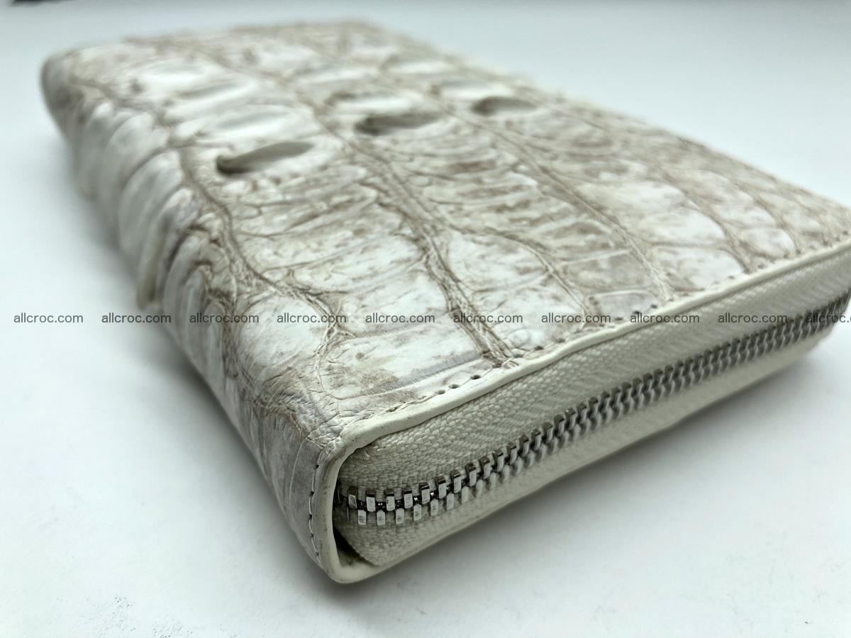 Crocodile leather wallet 1 zip 536 Foto 6