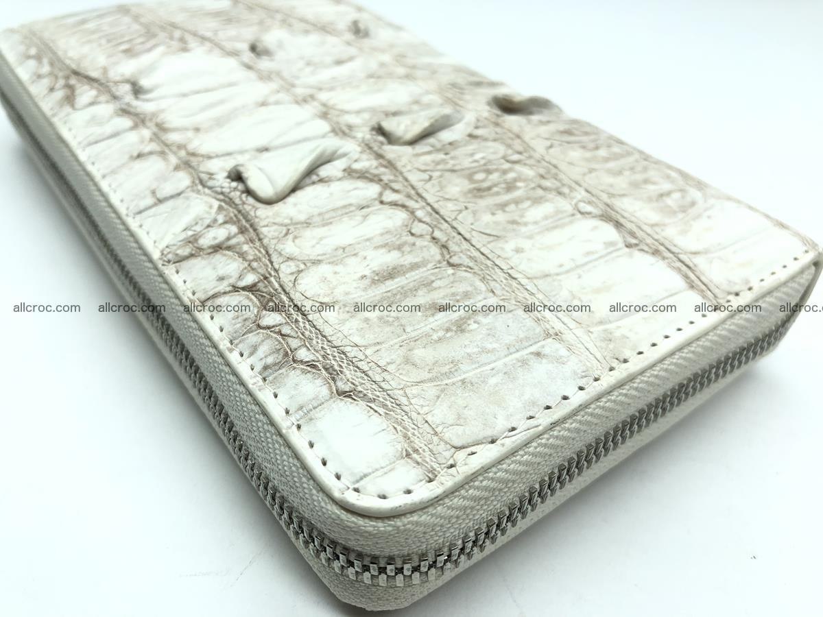 Crocodile leather wallet 1 zip 536 Foto 7
