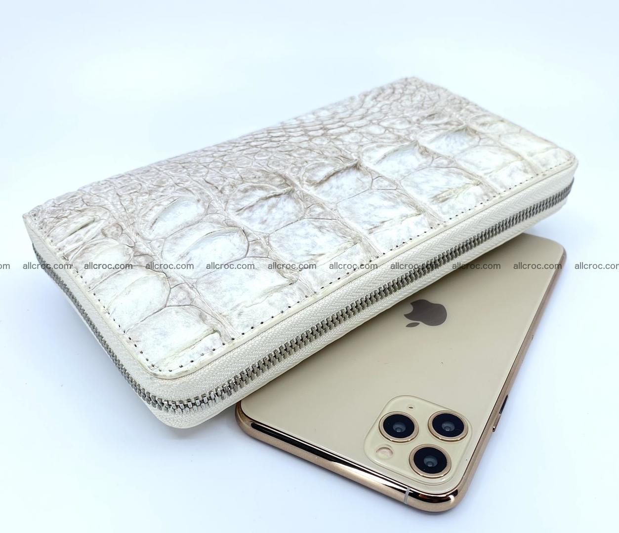 Crocodile skin zip wallet L-size 537 Foto 0