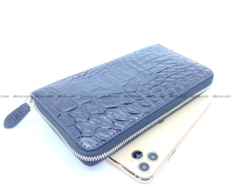 Crocodile skin zip wallet L-size 538 Foto 0