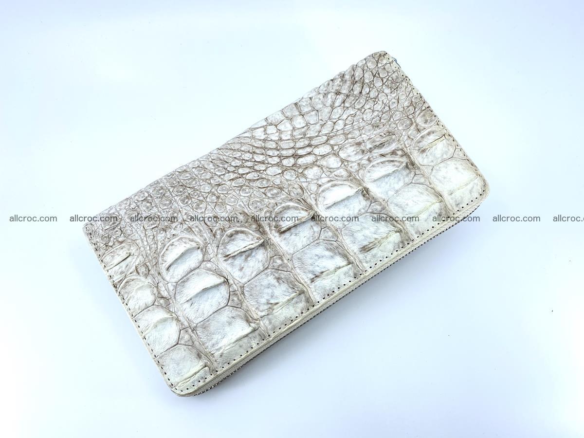 Crocodile skin zip wallet L-size 537 Foto 3