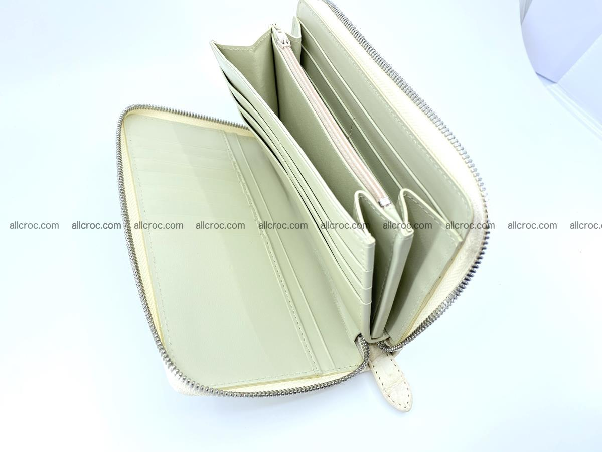 Crocodile skin zip wallet L-size 537 Foto 11