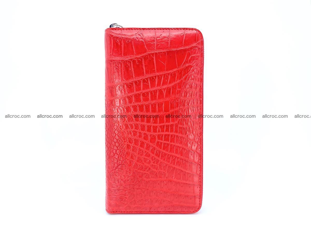 Crocodile skin zip wallet 531 Foto 4
