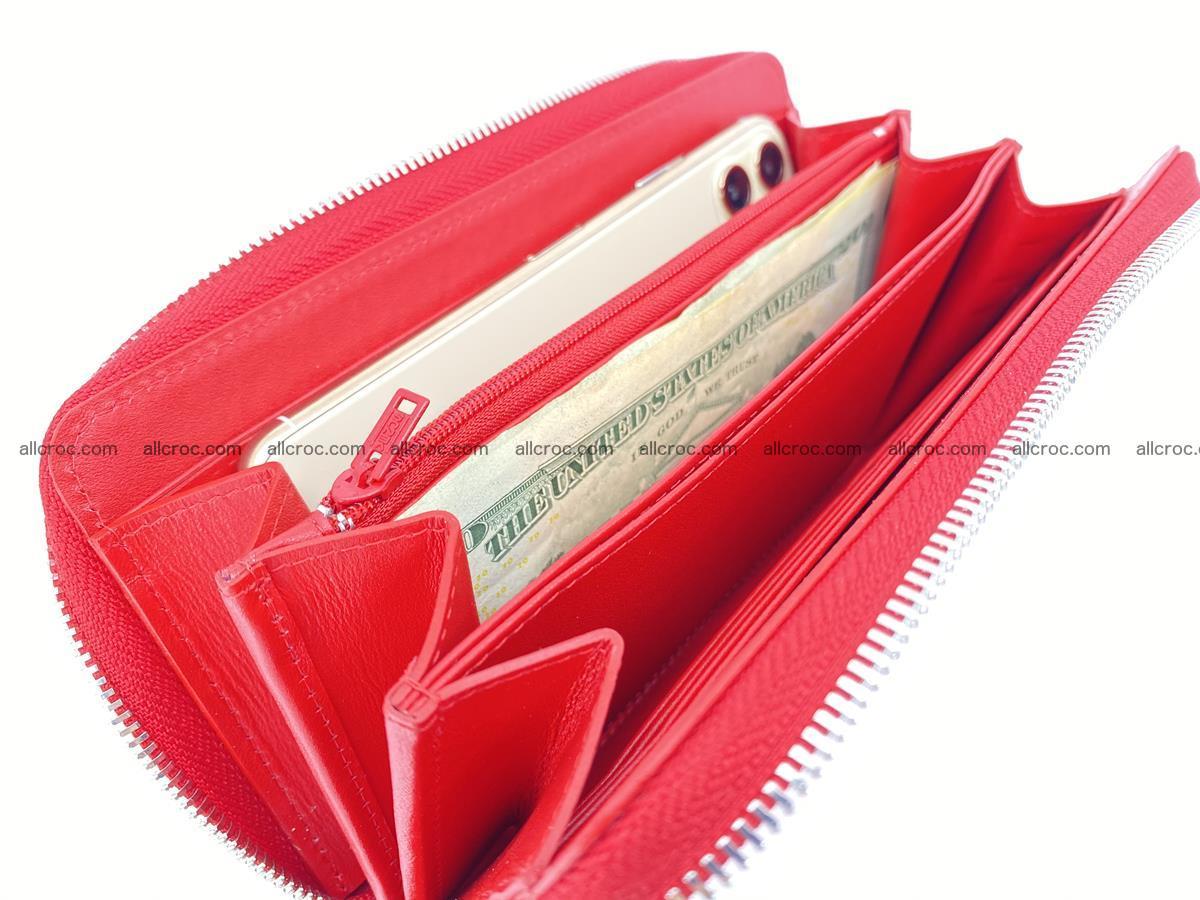 Crocodile skin zip wallet 531 Foto 13