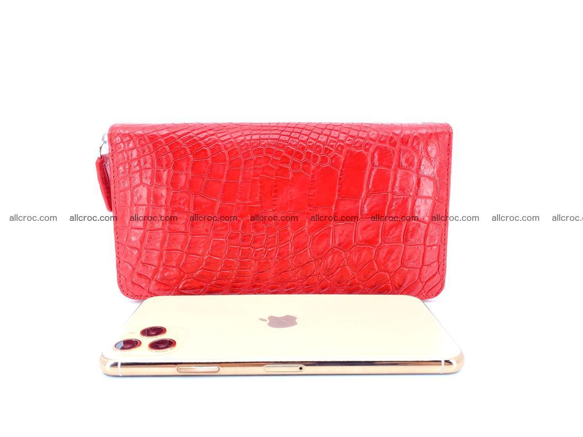 Crocodile skin zip wallet 531 Foto 8