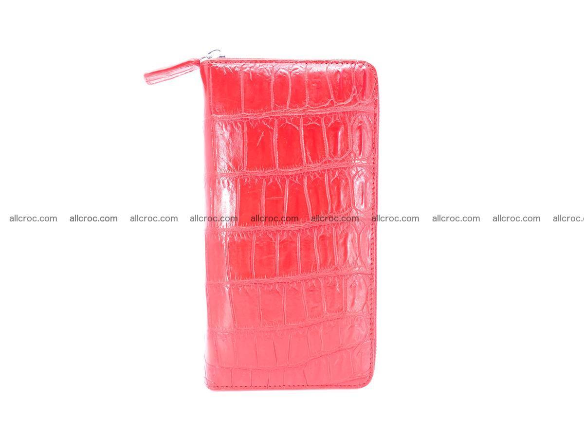 Crocodile skin zip wallet 530 Foto 6