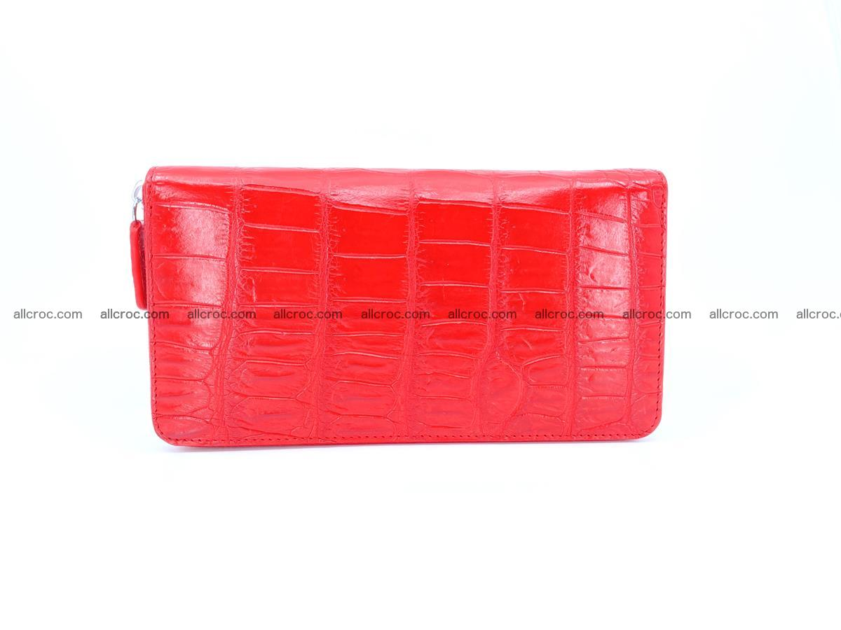 Crocodile skin zip wallet 530 Foto 4