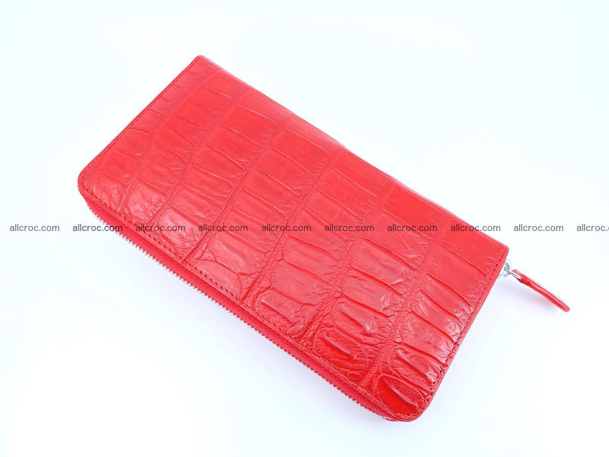 Crocodile skin zip wallet 530 Foto 7