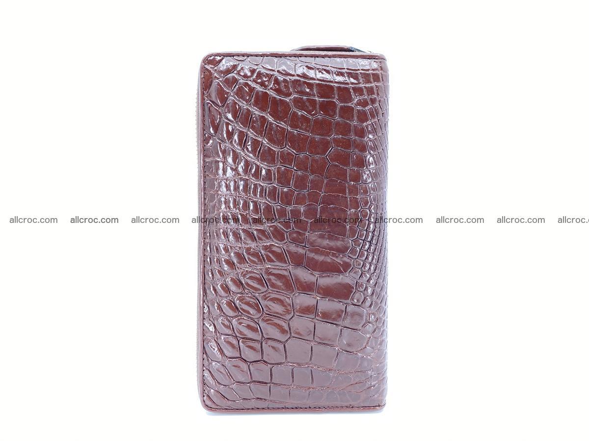 Crocodile skin zip wallet L-size 539 Foto 4