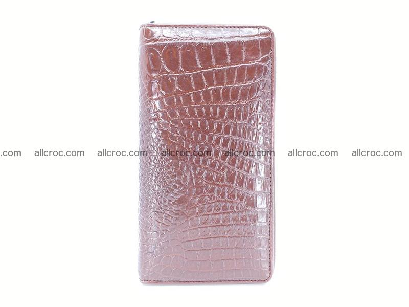 Crocodile leather wallet 1 zip 539