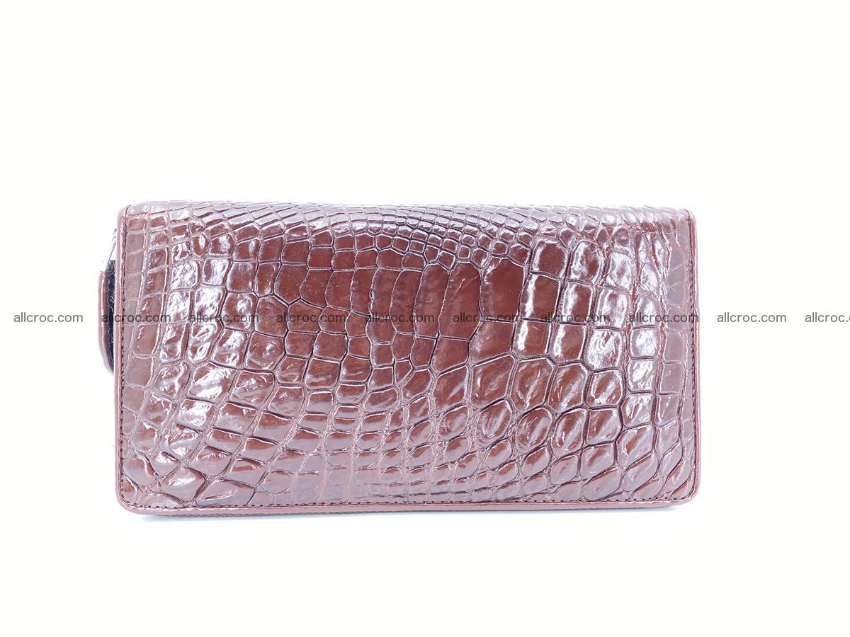 Crocodile skin zip wallet L-size 539 Foto 1