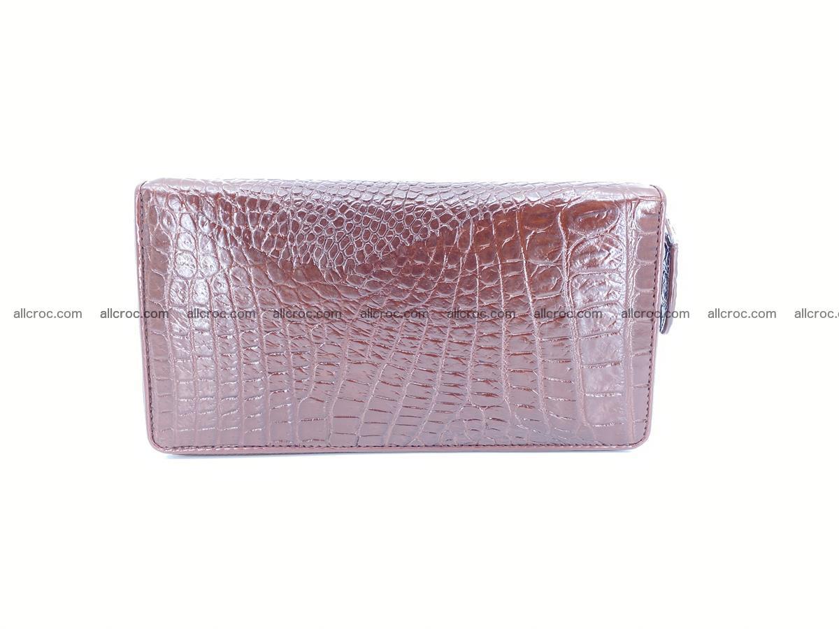 Crocodile skin zip wallet L-size 539 Foto 3