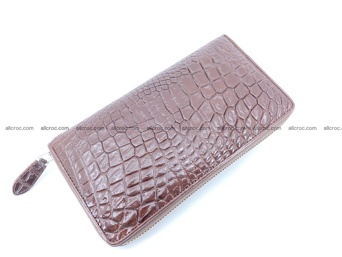 Crocodile skin zip wallet L-size 539 Foto 5