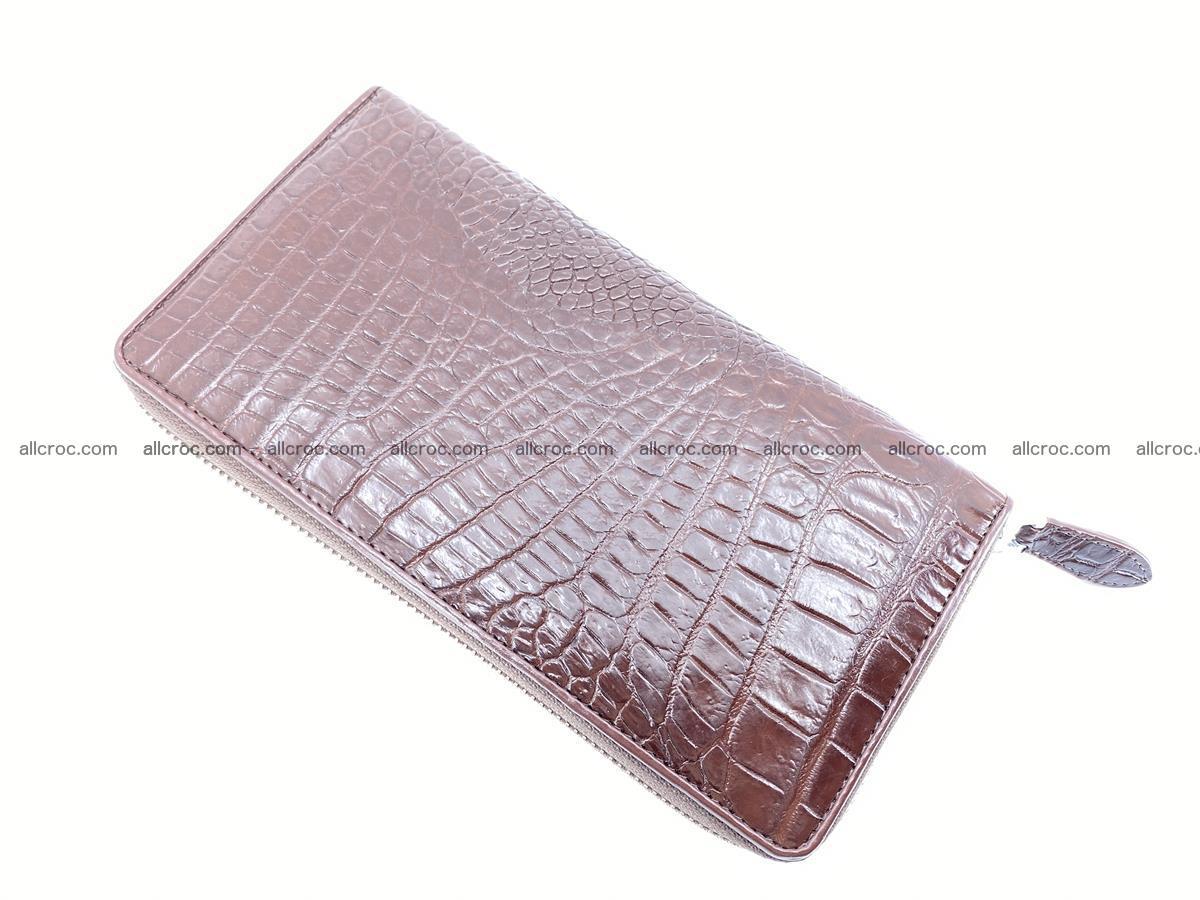 Crocodile skin zip wallet L-size 539 Foto 7