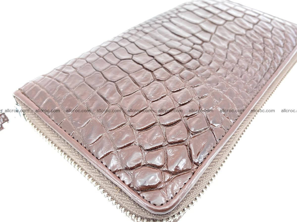 Crocodile skin zip wallet L-size 539 Foto 8