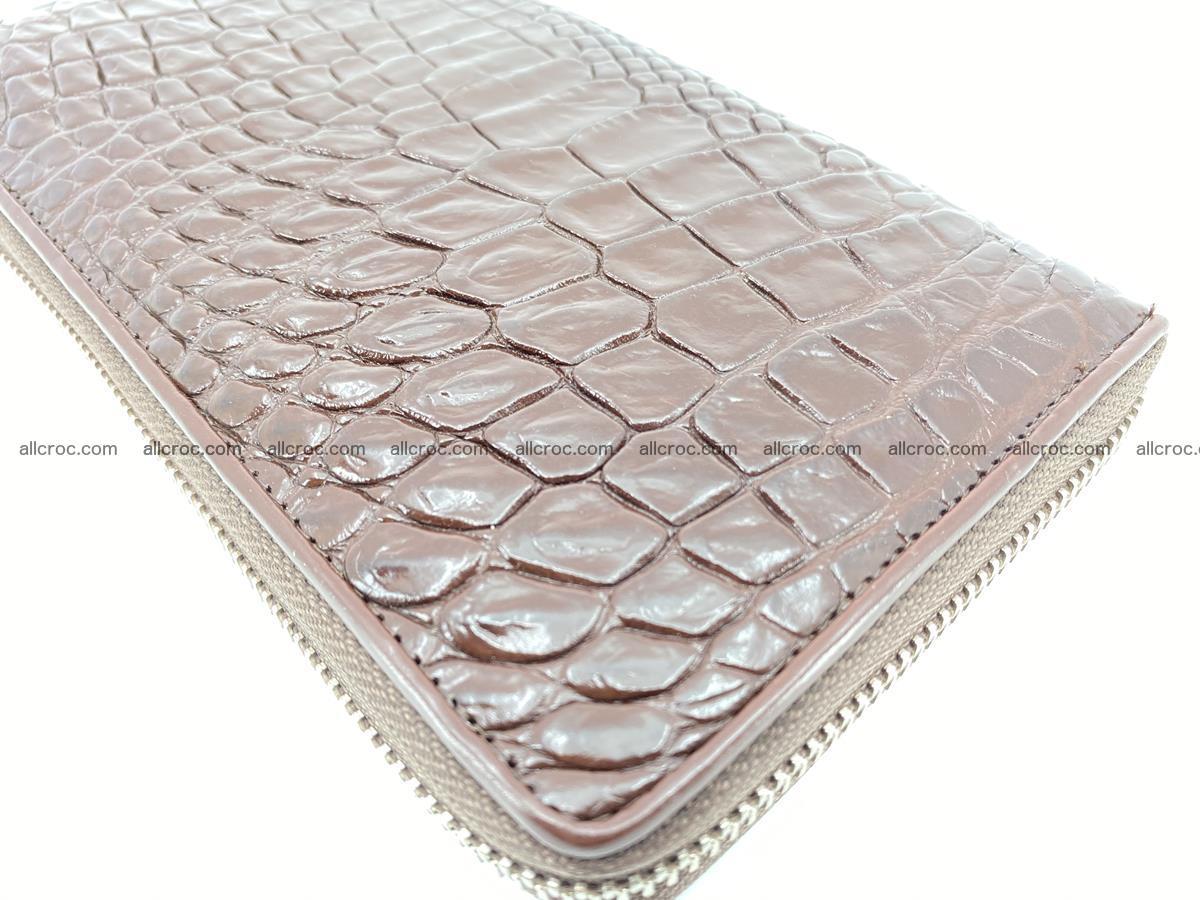Crocodile skin zip wallet L-size 539 Foto 9