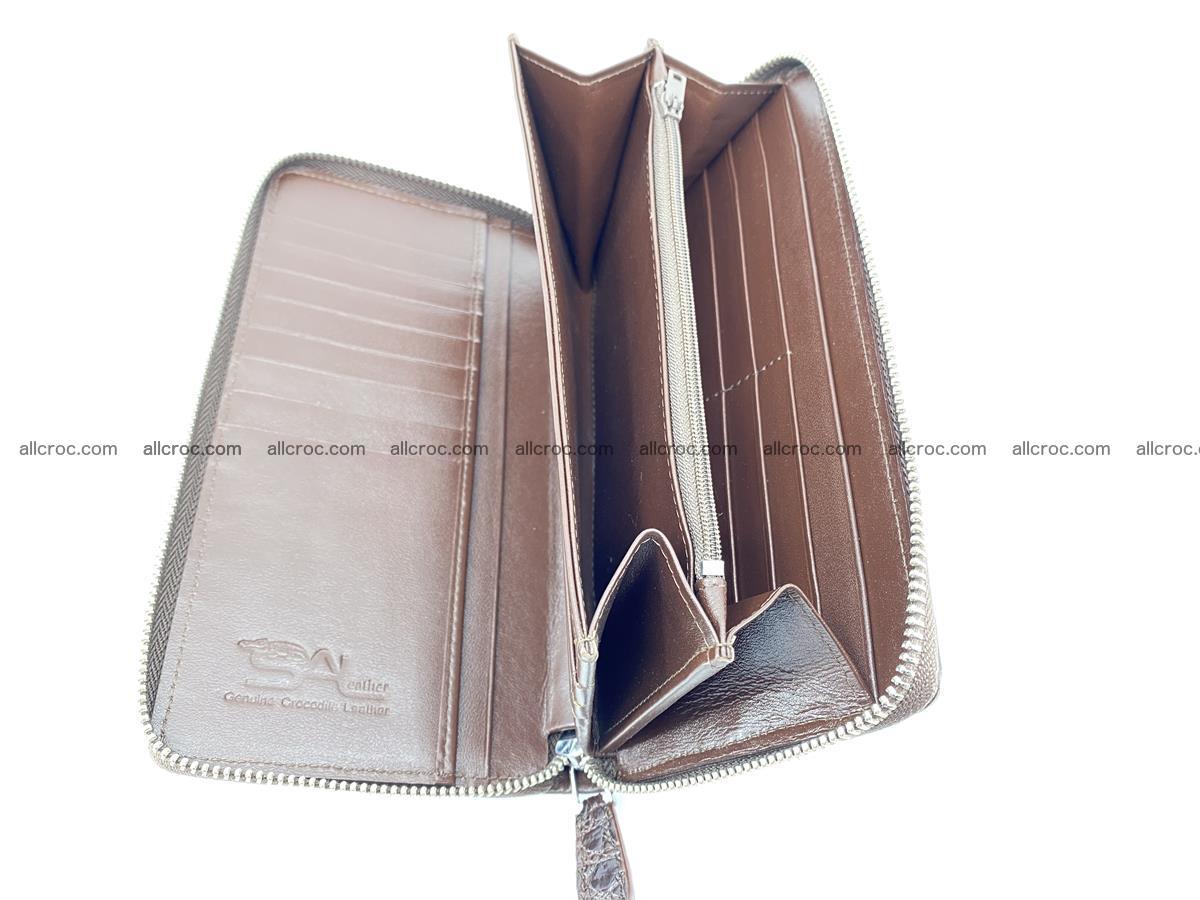 Crocodile skin zip wallet L-size 539 Foto 10