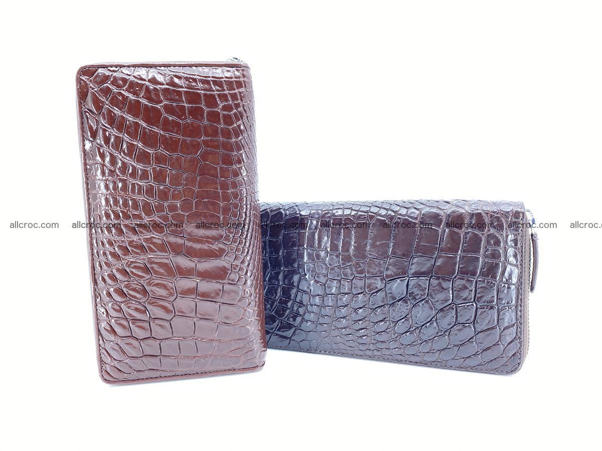 Crocodile skin zip wallet L-size 539 Foto 12