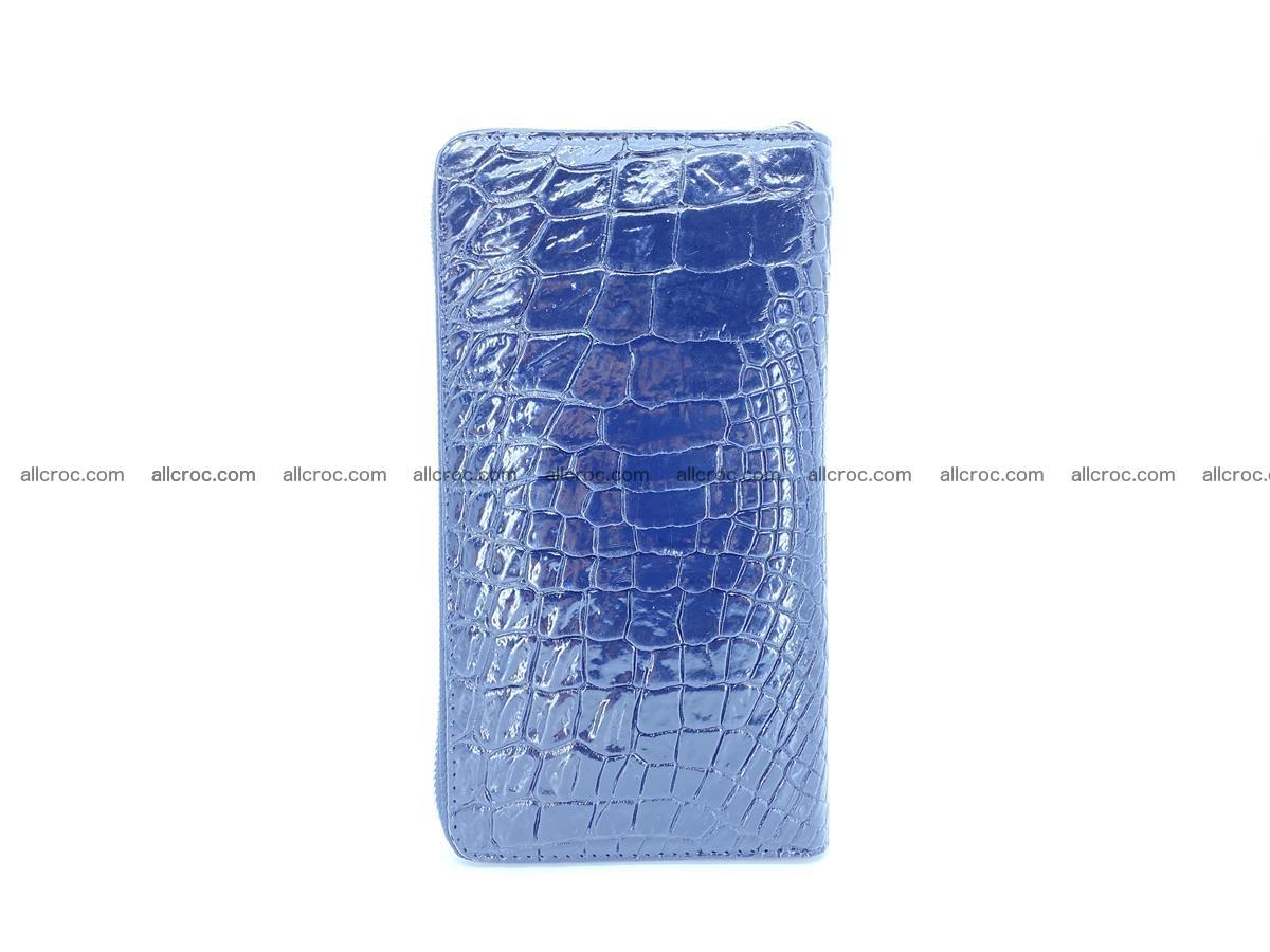 Crocodile skin zip wallet L-size 538 Foto 5