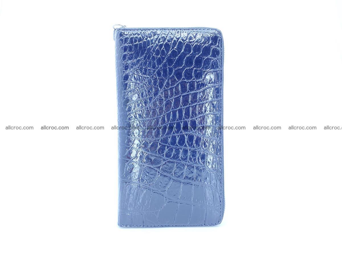 Crocodile skin zip wallet L-size 538 Foto 4