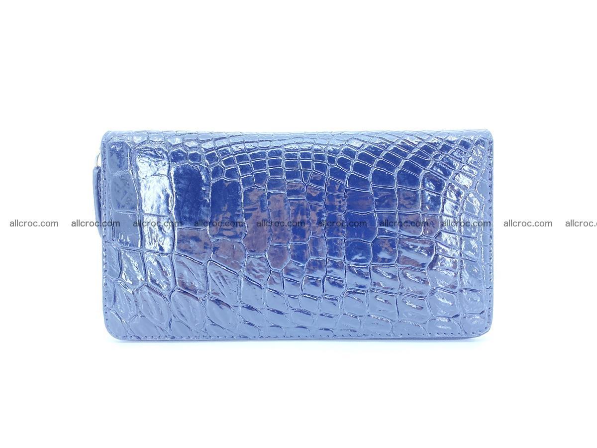Crocodile skin zip wallet L-size 538 Foto 2