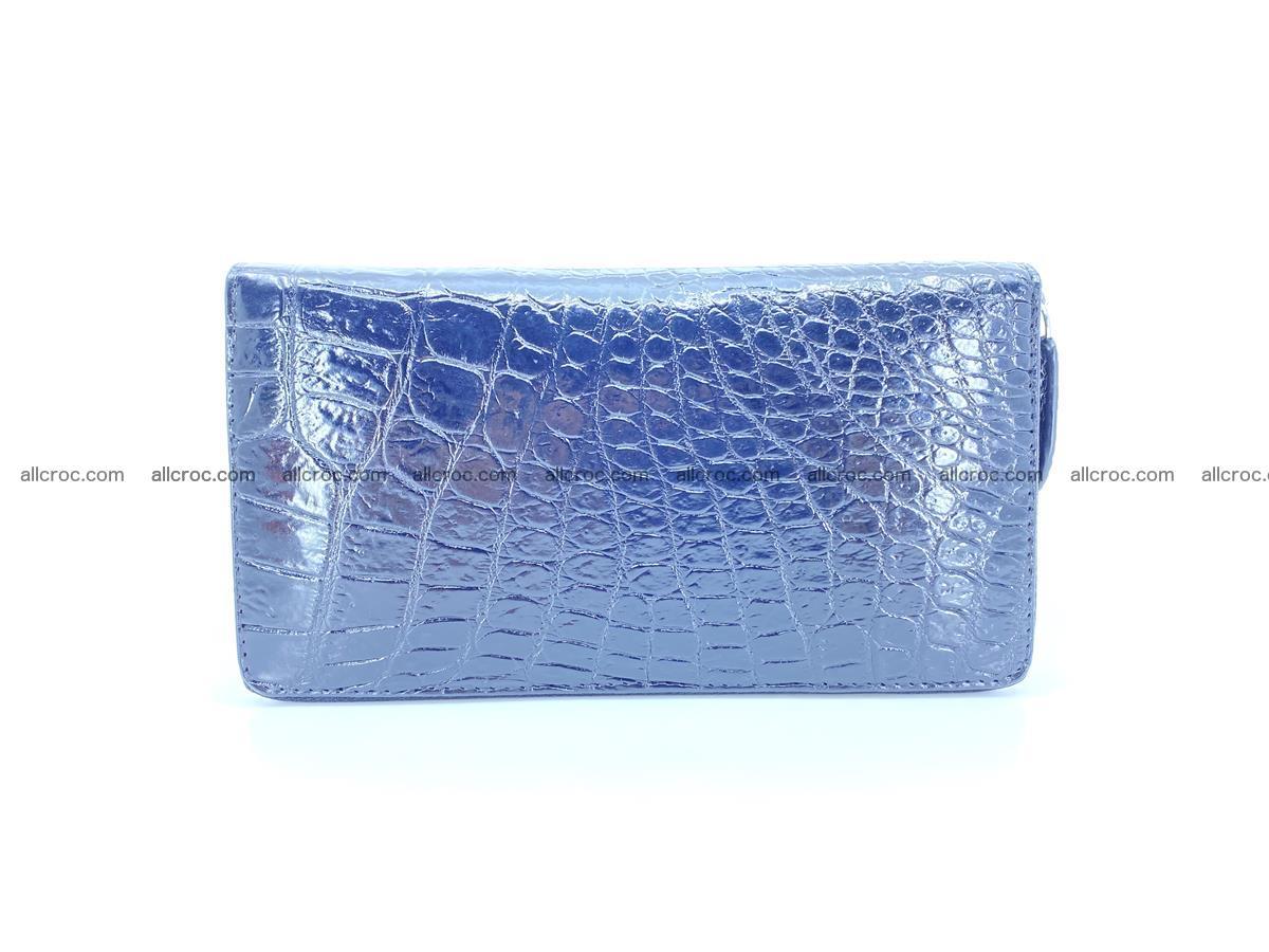 Crocodile skin zip wallet L-size 538 Foto 3