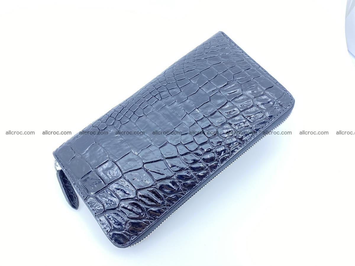 Crocodile skin zip wallet L-size 538 Foto 7