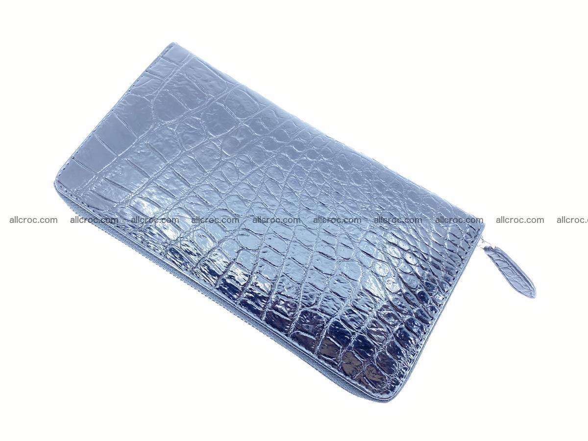 Crocodile skin zip wallet L-size 538 Foto 6