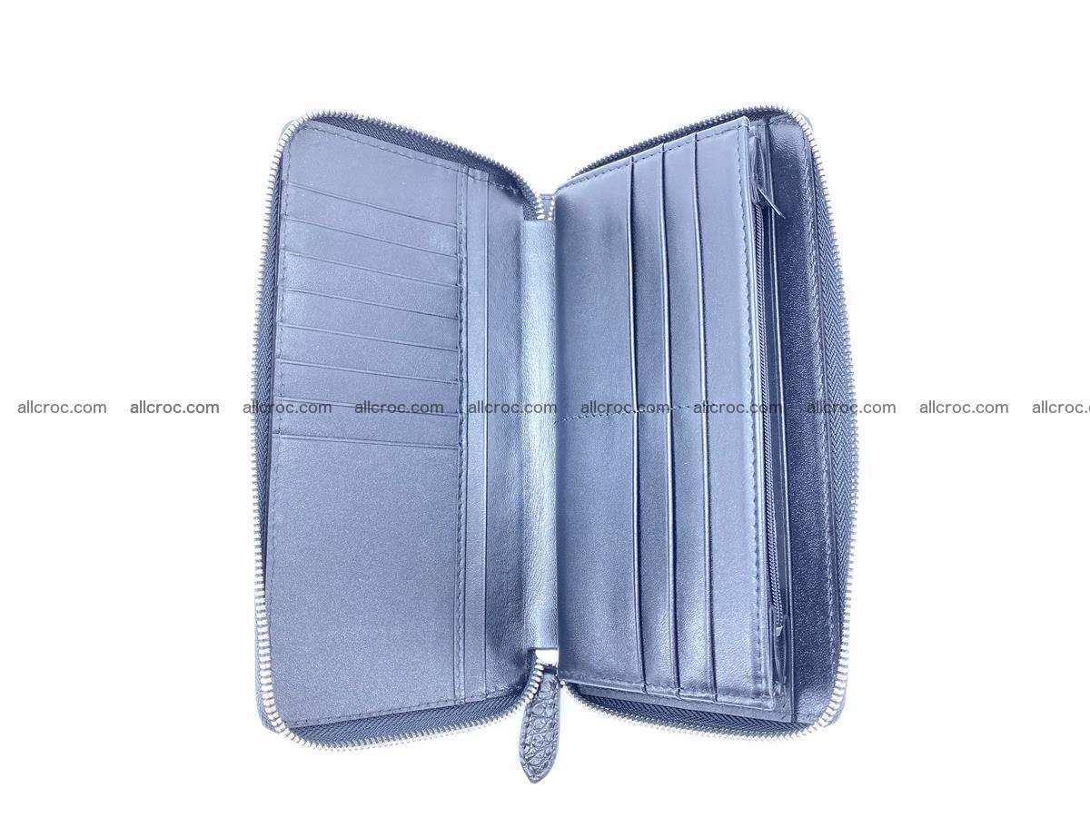 Crocodile skin zip wallet L-size 538 Foto 8