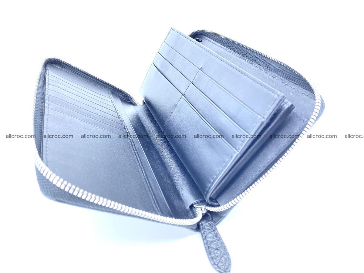 Crocodile skin zip wallet L-size 538 Foto 10