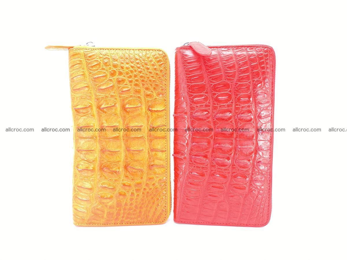 Crocodile skin zip wallet L-size 535 Foto 14