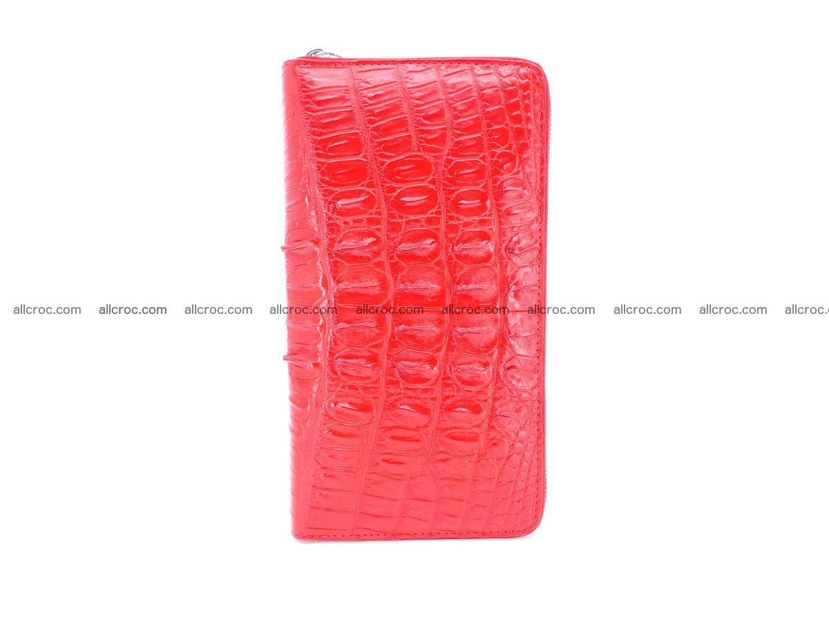 Crocodile skin zip wallet L-size 535 Foto 4