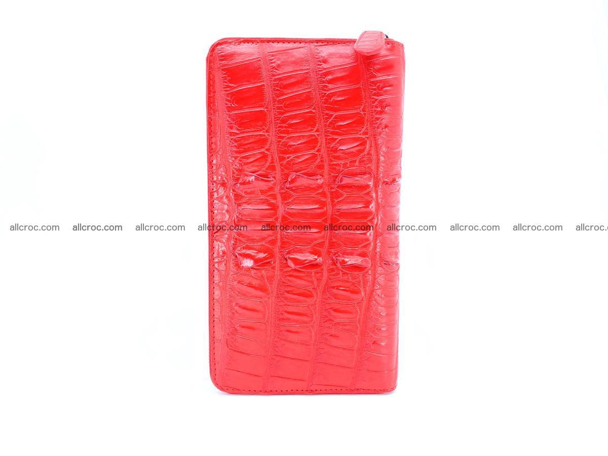 Crocodile skin zip wallet L-size 535 Foto 5