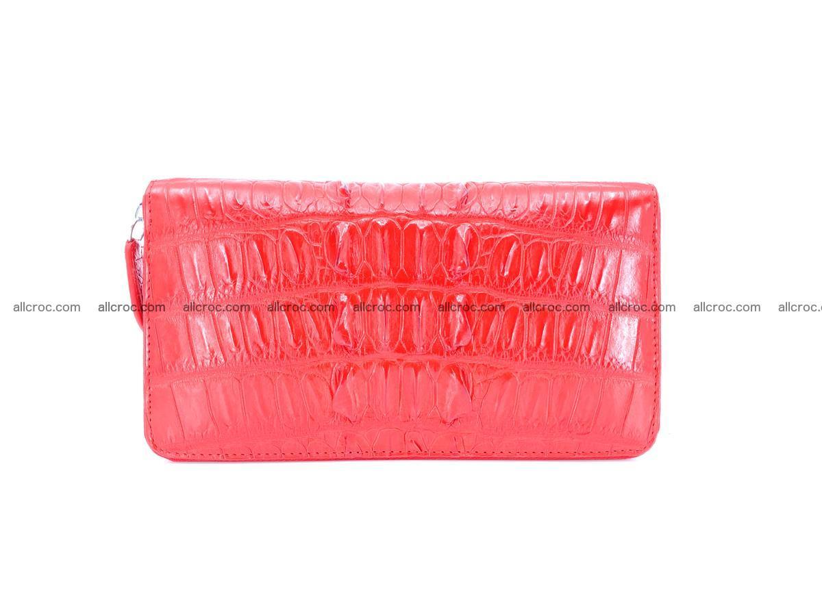 Crocodile skin zip wallet L-size 535 Foto 2