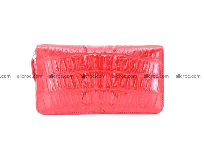 Crocodile leather wallet 1 zip 535
