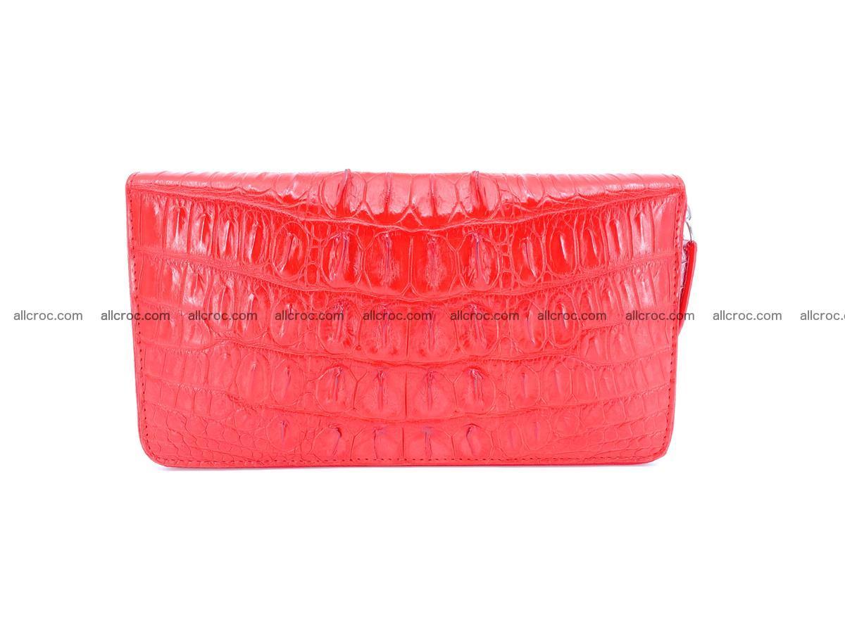 Crocodile skin zip wallet L-size 535 Foto 3