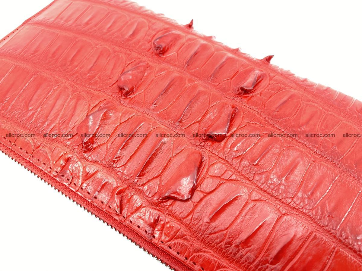 Crocodile skin zip wallet L-size 535 Foto 8