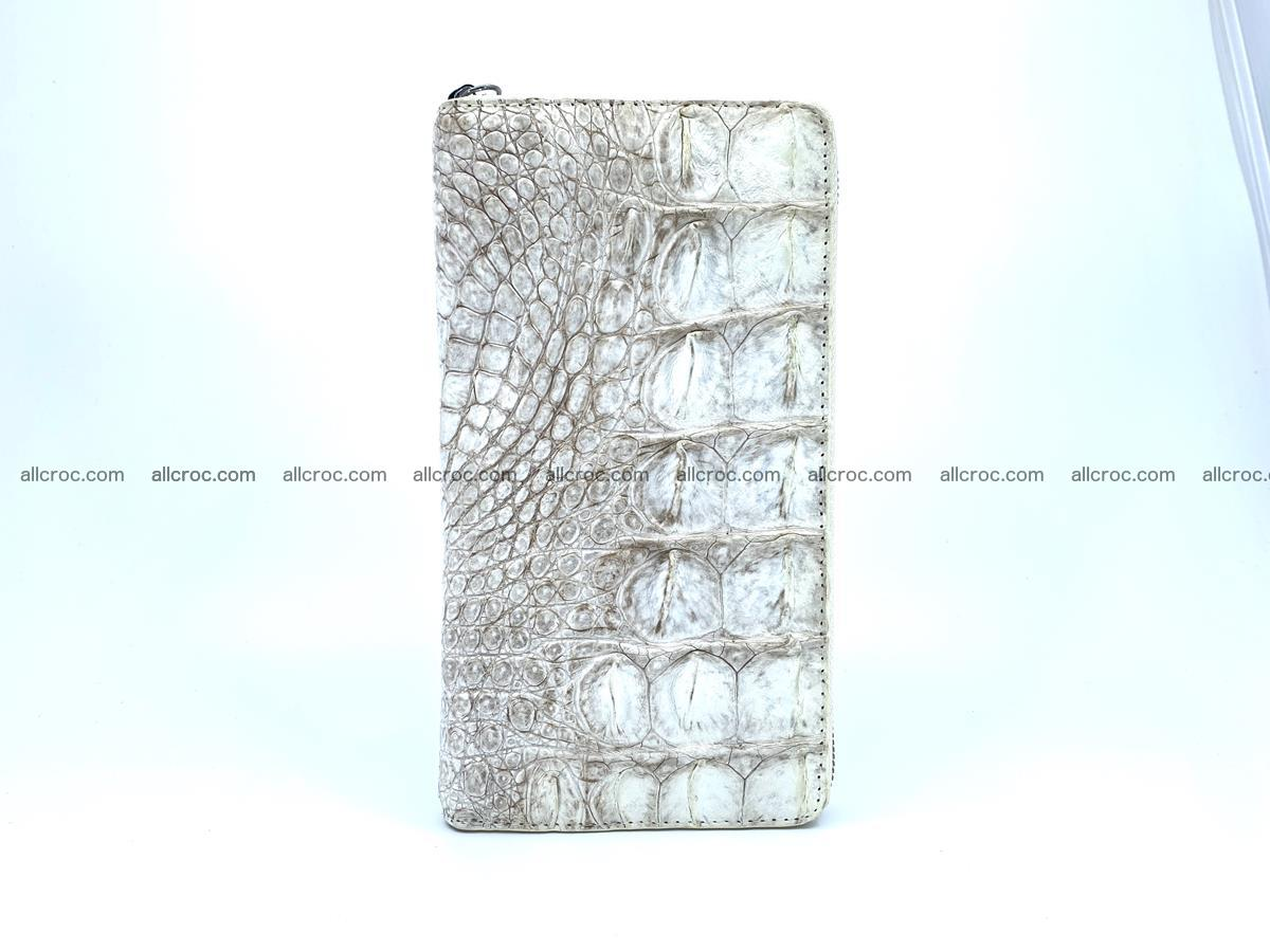 Crocodile skin zip wallet L-size 537 Foto 6