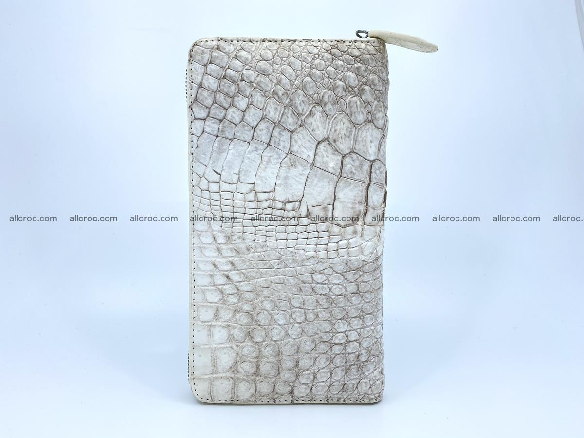 Crocodile skin zip wallet L-size 537 Foto 7