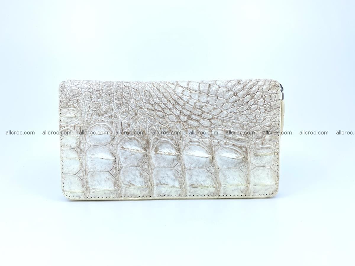 Crocodile skin zip wallet L-size 537 Foto 2