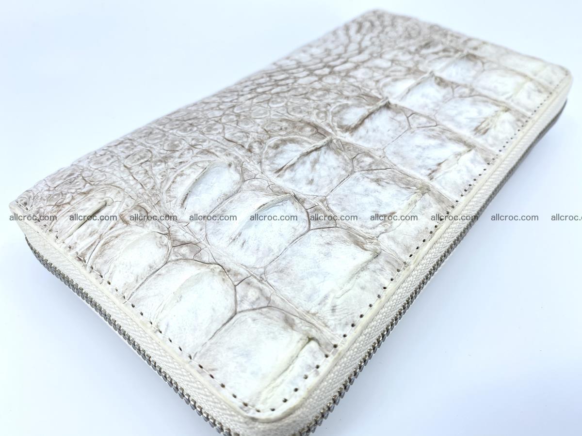 Crocodile skin zip wallet L-size 537 Foto 8